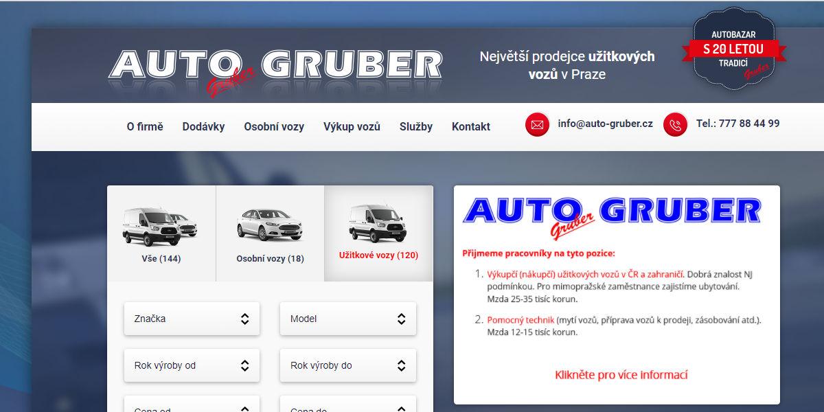 Recenze autobazaru Auto Gruber