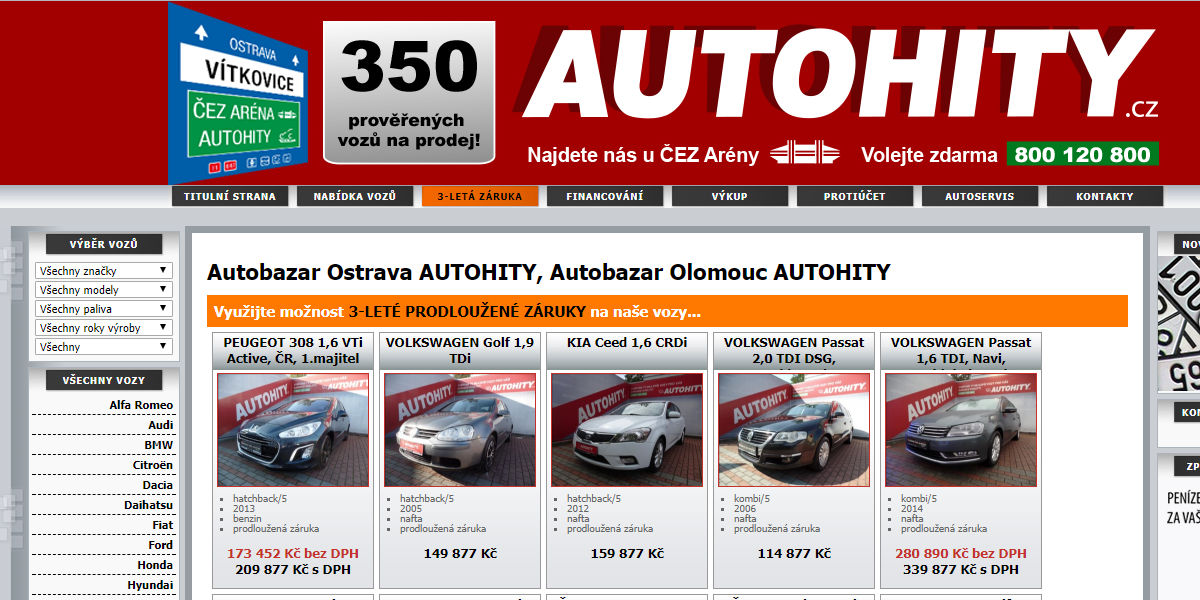 Autohity Olomouc recenze zkušenosti autobazar